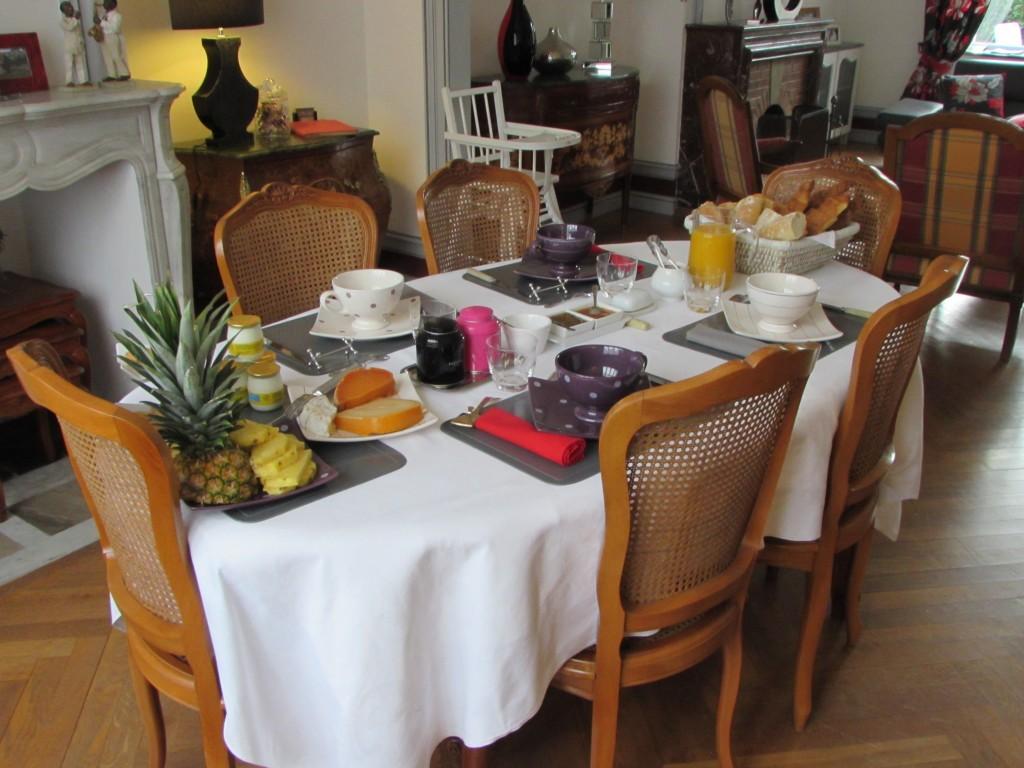 La table pour nos petits déjeuners